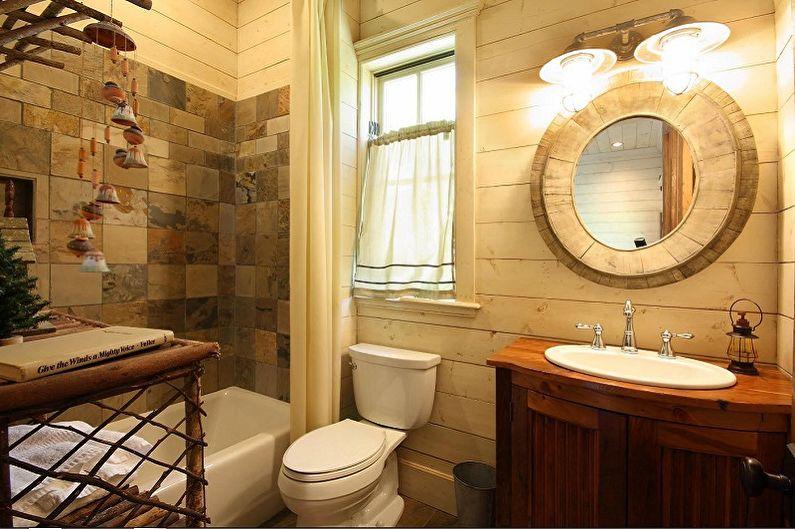 Идеи оформления пластиковых панелей для ванной комнаты - Имитация дерева и декоративного камня