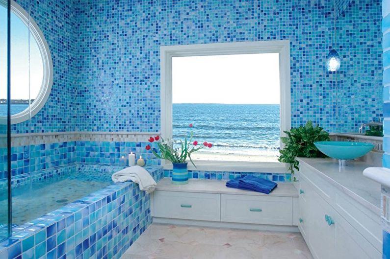 Идеи оформления пластиковых панелей для ванной комнаты - Панели под кафель