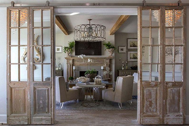 Дизайн стеклянных межкомнатных дверей - Французские двери