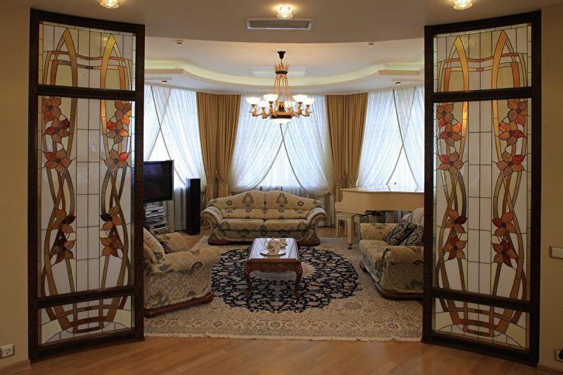 Дизайн стеклянных межкомнатных дверей - Витражные двери