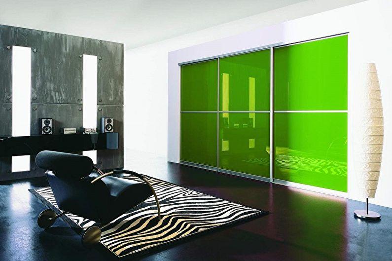 Дизайн стеклянных межкомнатных дверей - Стеклянные двери, декорированные пленкой