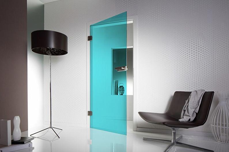 Дизайн стеклянных межкомнатных дверей - Конструкции с применением триплекс-стекла