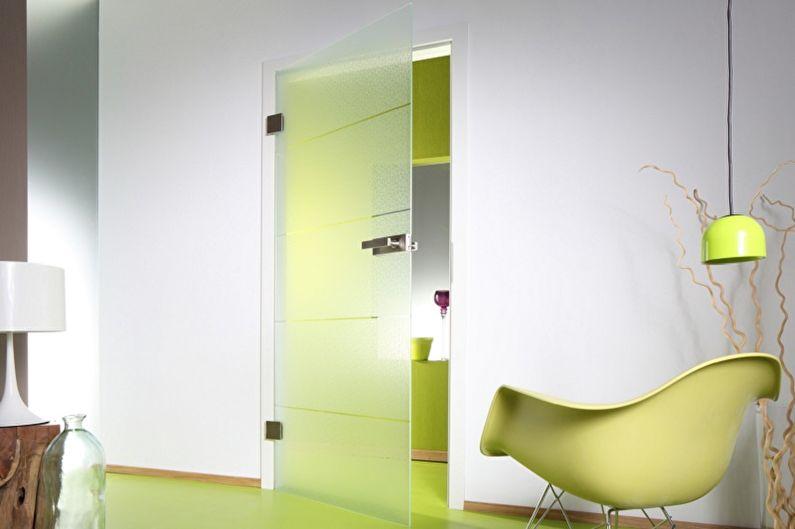 Стеклянные межкомнатные двери - фото