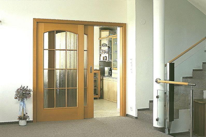 Виды межкомнатных дверей-купе по типу движения - Проемные