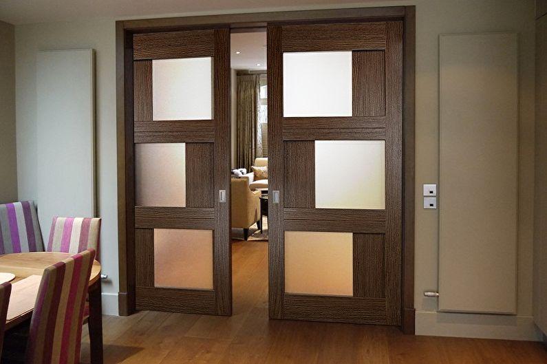 Виды межкомнатных дверей-купе по типу движения - Кассетные