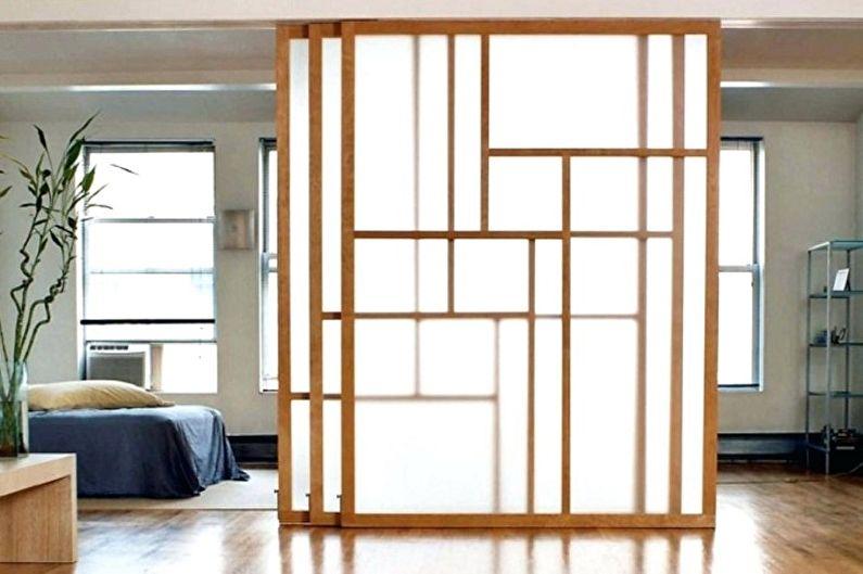 Виды межкомнатных дверей-купе по типу движения - Каскадные