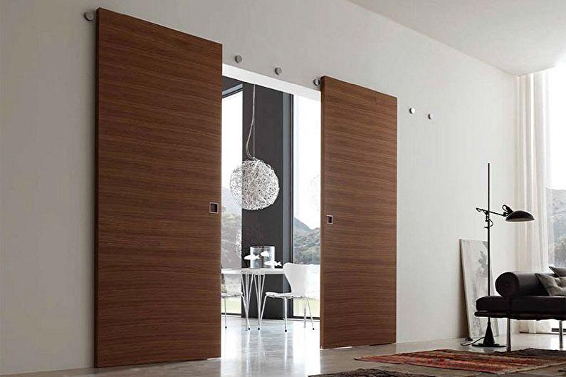 Типы материала межкомнатных дверей-купе - МДФ