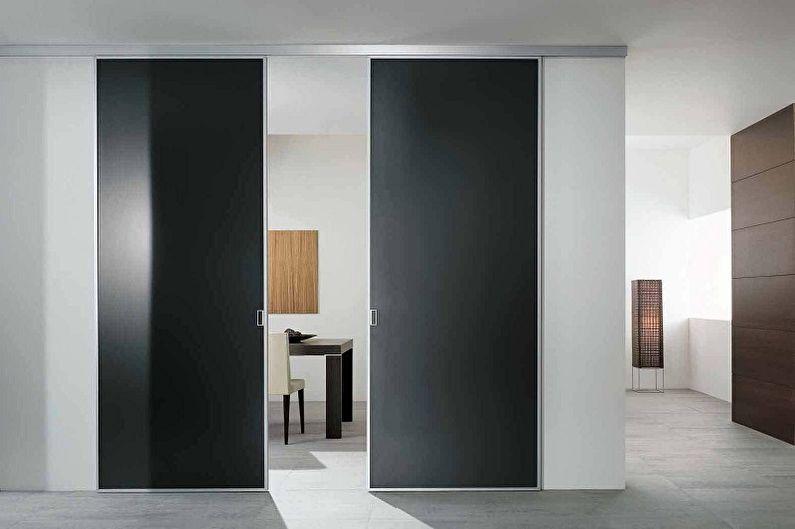 Типы материала межкомнатных дверей-купе - Металл