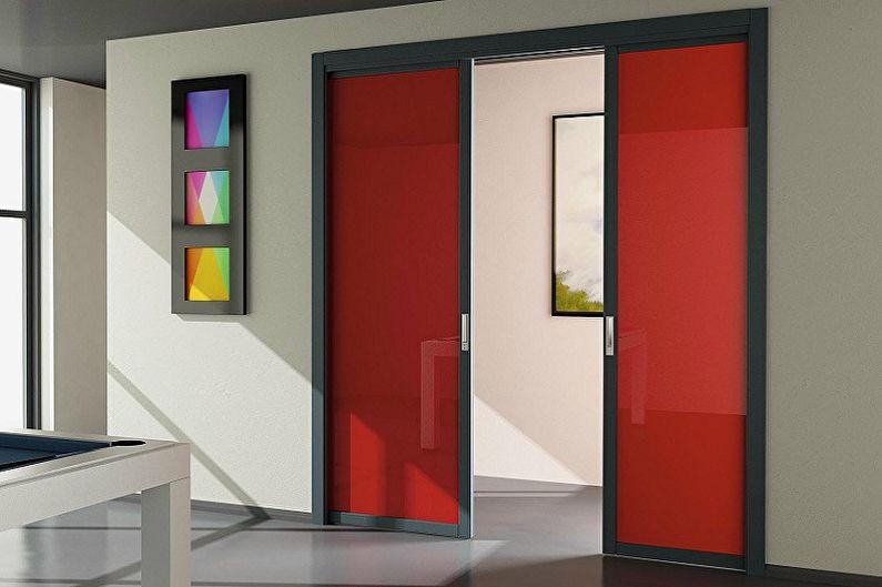 Типы материала межкомнатных дверей-купе - Пластик