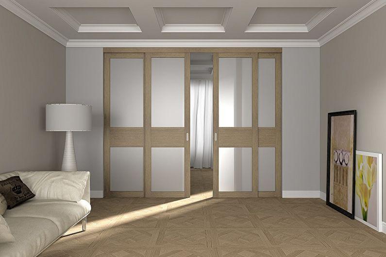 Межкомнатные двери-купе - фото