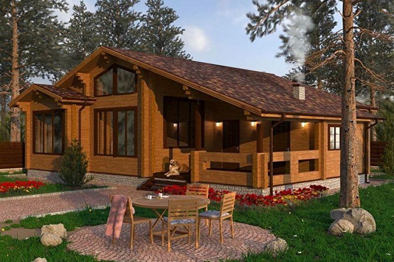 Одноэтажные и двухэтажные дома из бруса