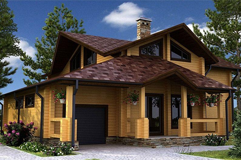 Проекты домов из бруса с гаражом