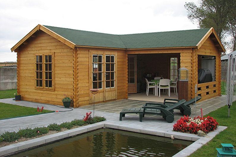 Проектирование домов из бруса - Летняя кухня