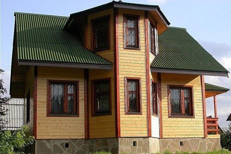 Дома из бруса с эркером