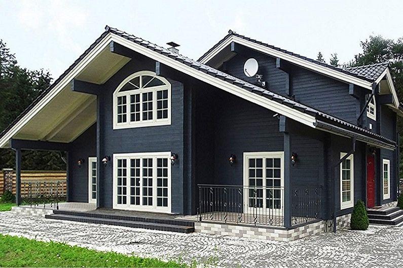 Дома из бруса - проекты и фото