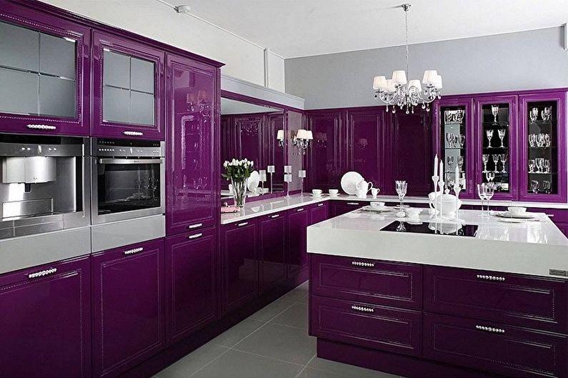 Фиолетовая кухня: идеи дизайна (80 фото)