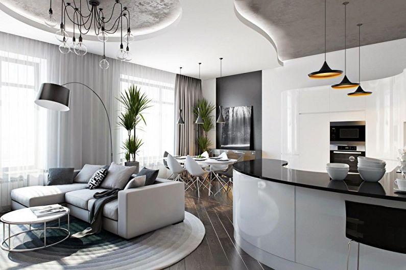 60+ идей планировки однокомнатной квартиры (фото)