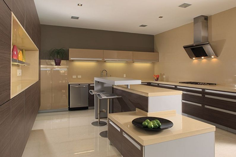 Дизайн бежевой кухни: 70 фото и идей