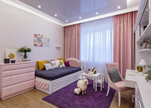 Розовая детская комната: дизайн интерьера (80 фото)