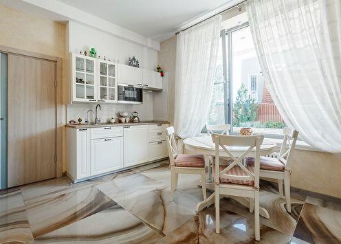 Тюль на кухню: 70 красивых фото-идей