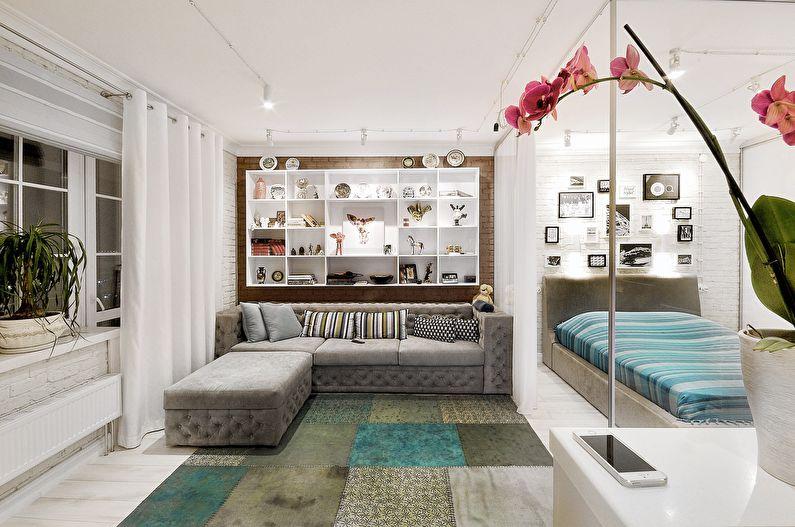 Дизайн гостиной - Белый цвет