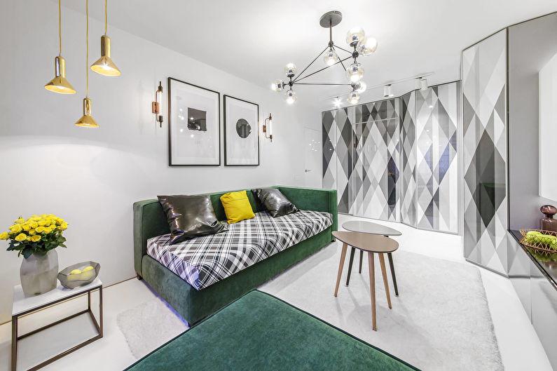 Дизайн гостиной - Контрастные цвета