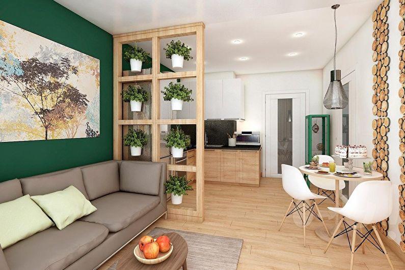 Дизайн гостиной - Натуральные оттенки