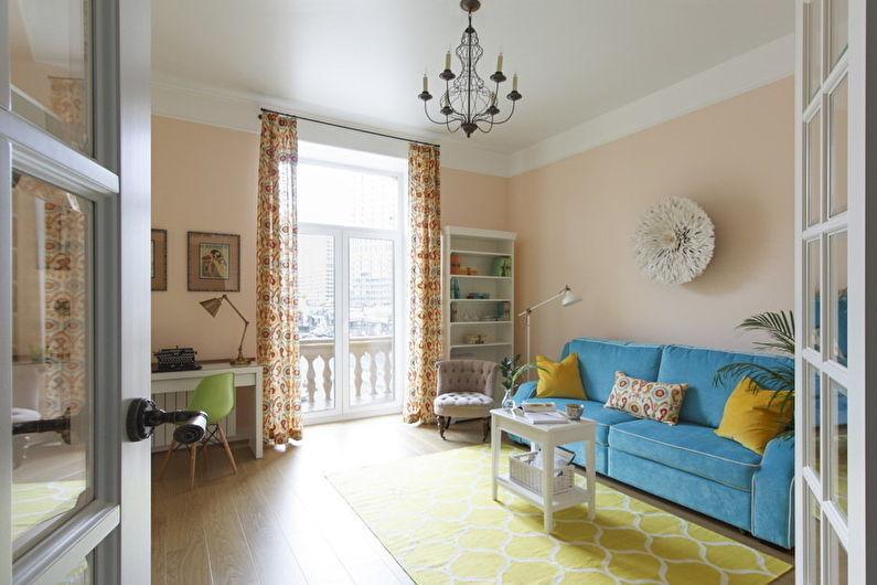 Дизайн гостиной - Декор и текстиль