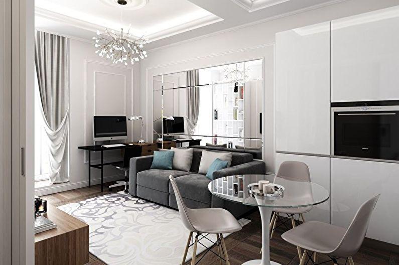 Дизайн интерьера маленькой гостиной