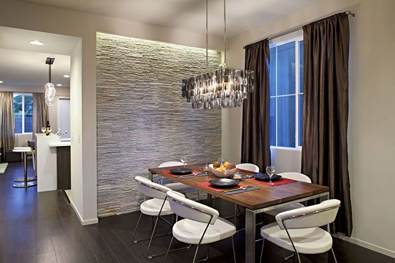Декоративный камень в интерьере кухни - Основные особенности