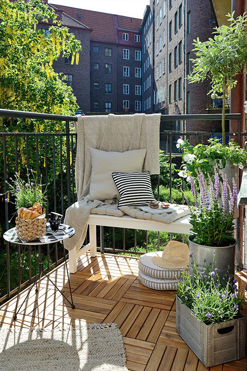 Обустройство зоны отдыха на балконе - Дизайн интерьера
