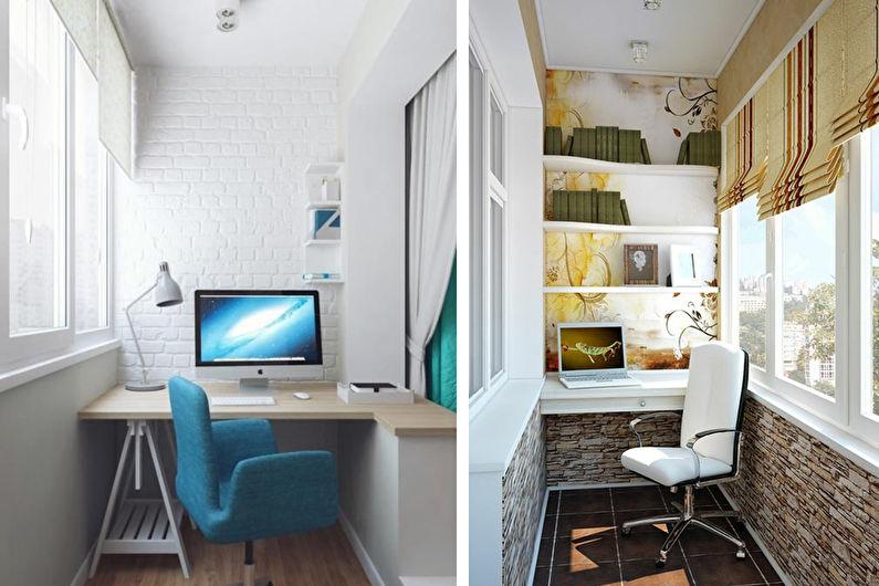 Дизайн интерьера балкона / лоджии: 76 фото и идей для ремонт.