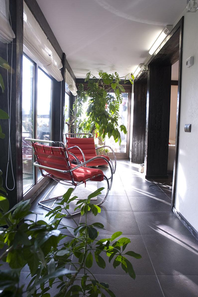 Зимний сад на балконе - Дизайн интерьера