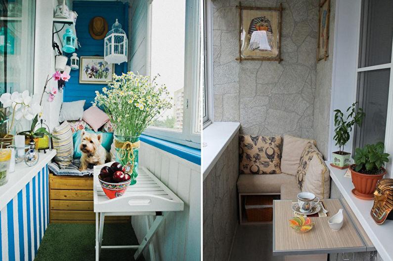 Дизайн балкона / лоджии - Декор и освещение