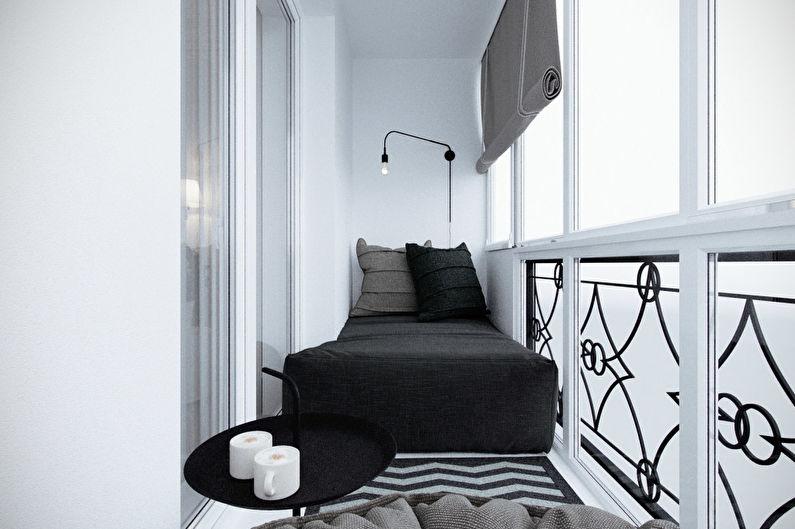 Дизайн маленького балкона / лоджии