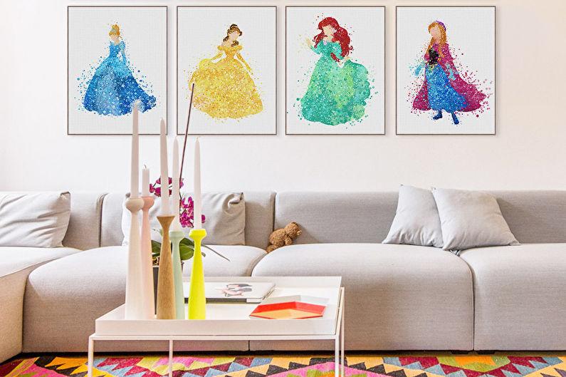 Детская комната в стиле поп-арт - Дизайн интерьера
