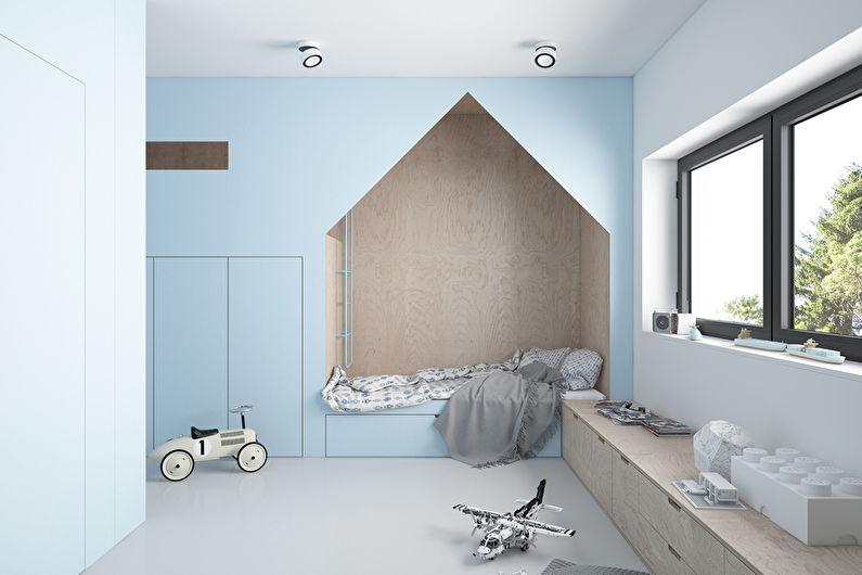Детская комната в стиле минимализм - Дизайн интерьера