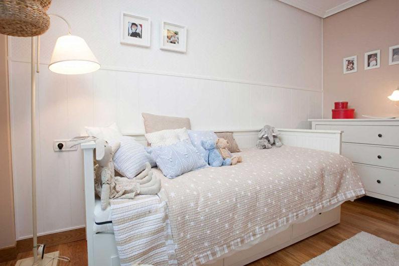 Белая детская комната - Дизайн интерьера