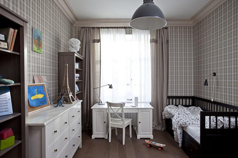 Бежевая детская комната - Дизайн интерьера