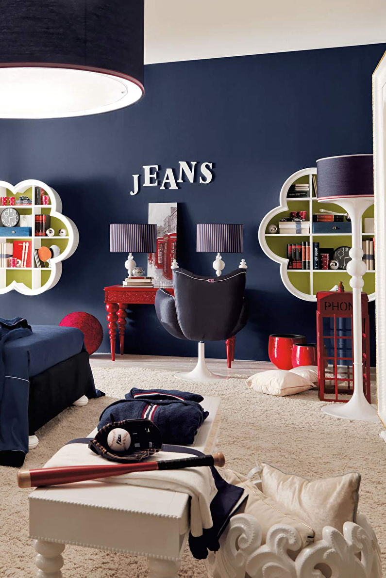 Синяя детская комната - Дизайн интерьера