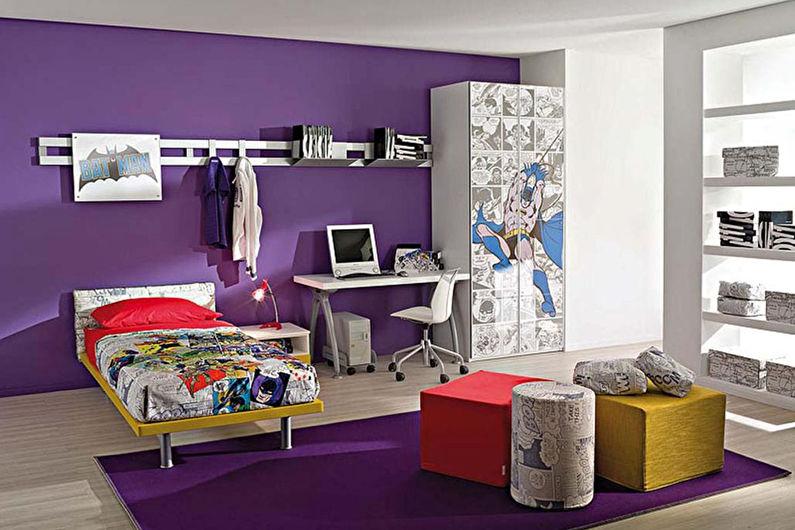 Фиолетовая детская комната - Дизайн интерьера