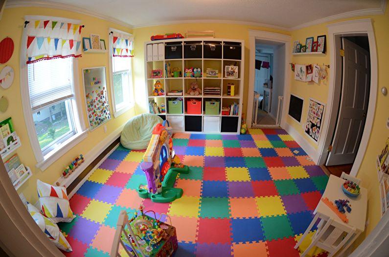 Дизайн детской комнаты - Отделка пола