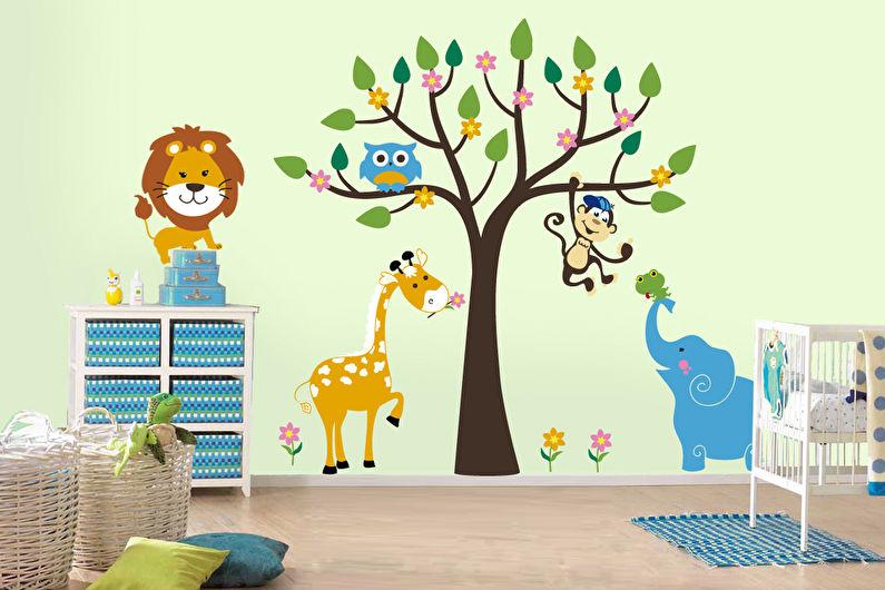 Дизайн детской комнаты - Отделка стен