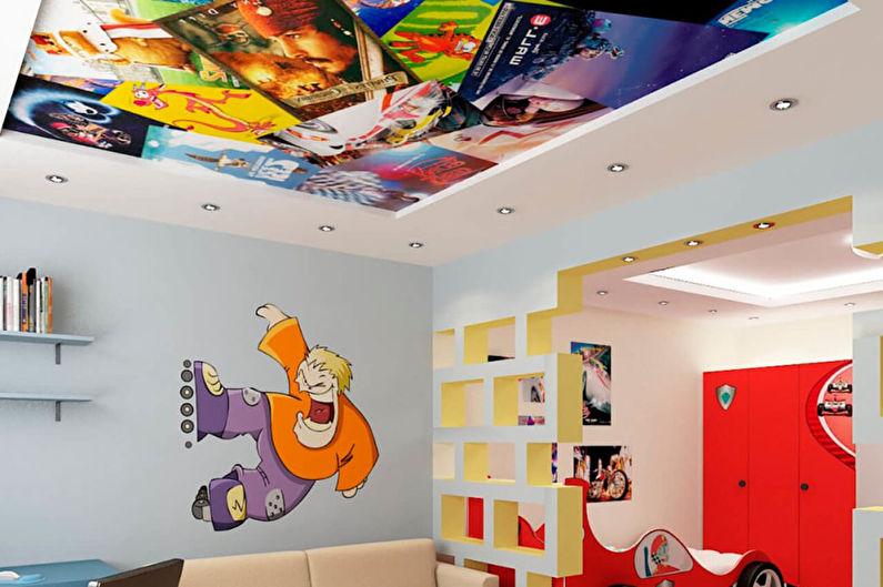 Дизайн детской комнаты - Отделка потолка
