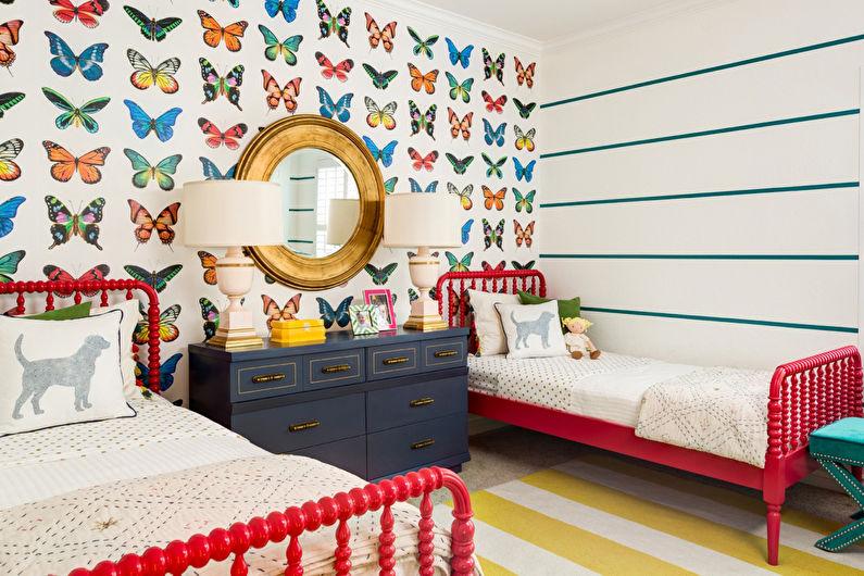 Дизайн интерьера детской комнаты - фото