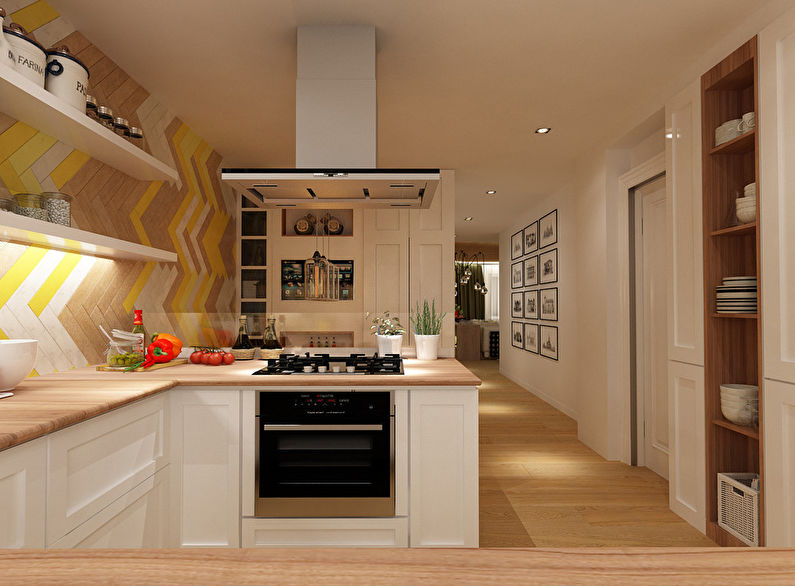 Кухня 19 кв м дизайн