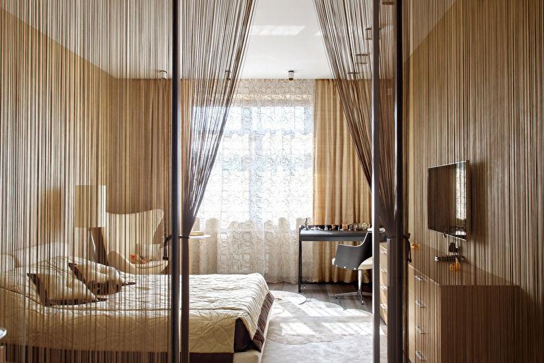 Зонирование спальни-гостиной - Текстиль