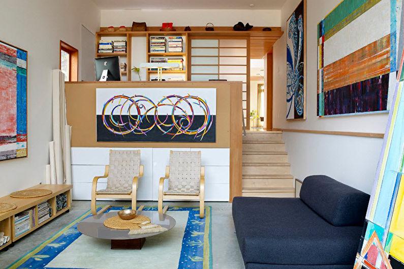 Зонирование спальни-гостиной - Подиумы и вторые уровни