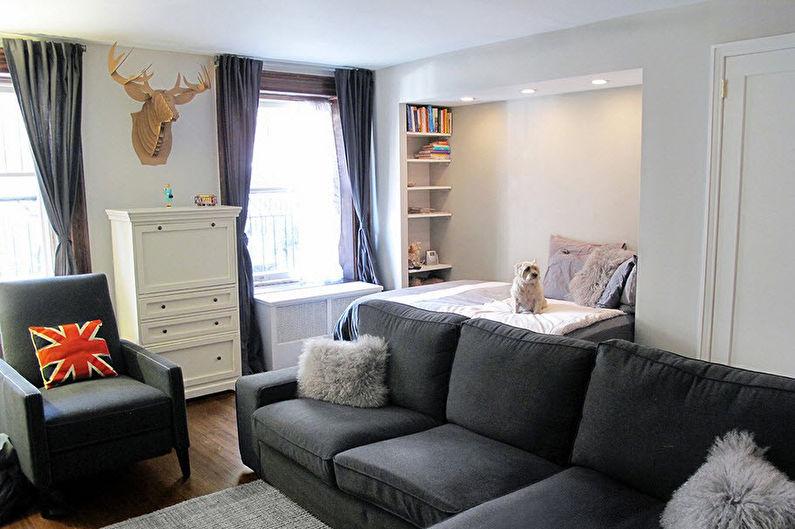 Зонирование спальни-гостиной - Мебель