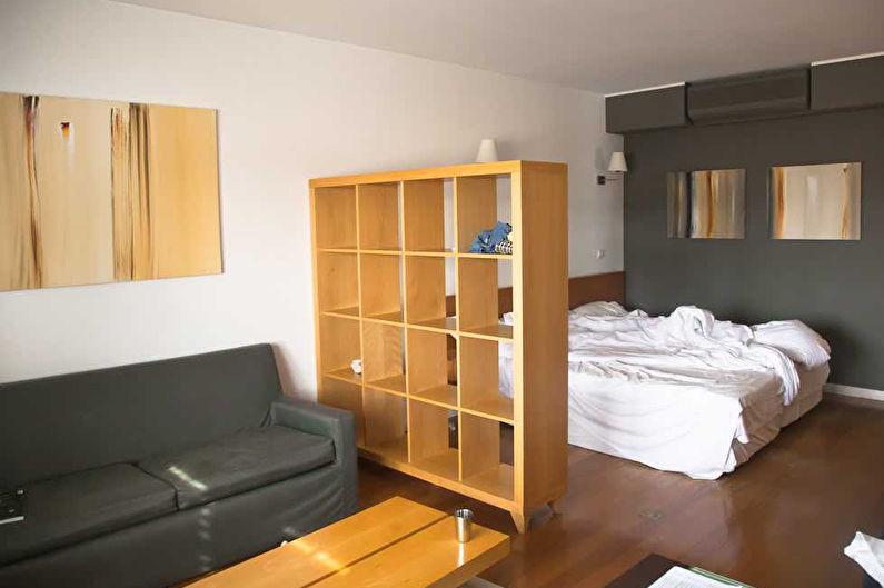 Спальня-гостиная в стиле минимализм - Дизайн интерьера